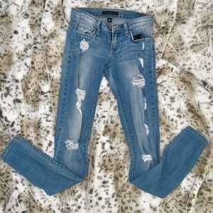 Flying Monkey Light Blue Ripped Jeans-Size 24
